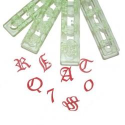 Emporte-pièces lettres anciennes et chiffres