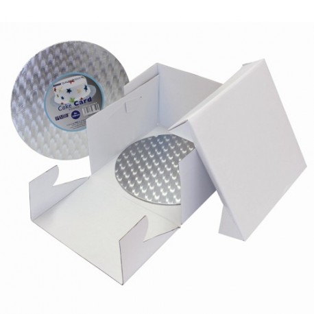 Boîte blanche avec support rond 20X20x15cm