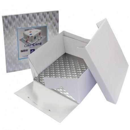 Boîte blanche avec support carré 25X25x15cm