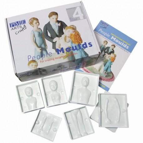 Coffret de moules pour créer des figurines