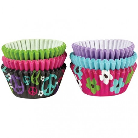 "Assortiment mini caissettes ""peace and flower"""