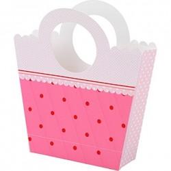 """4 paniers à confiseries """"Pink"""""""