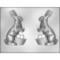 """Moule à chocolat 3D """"lapin et son panier d'œufs"""""""
