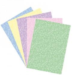 Feuille motif floral - azyme ou sucre