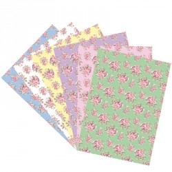Feuille motif shabby chic - azyme ou sucre