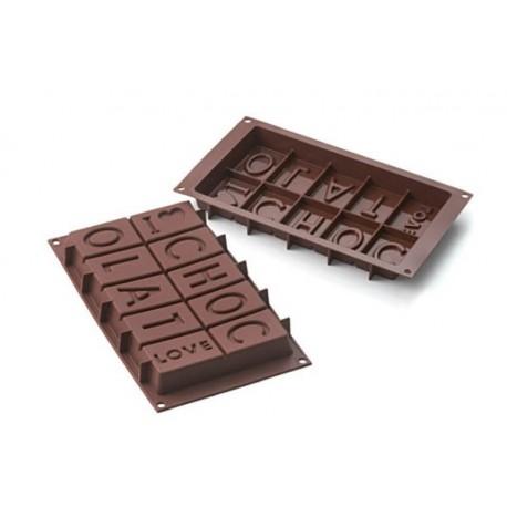 "Moule en silicone ""I Love Chocolat"""