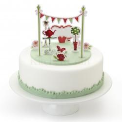 """11 décorations pour gâteau """"Tea Party"""""""