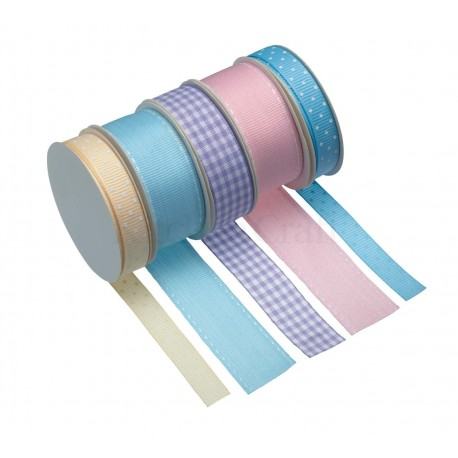 5 rubans pastel