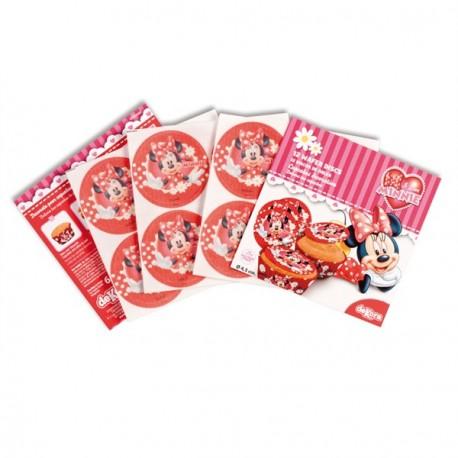 12 mini disques azyme Minnie pour cupcakes
