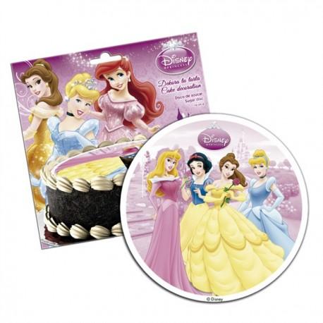 Disque de pâte à sucre Princesse Disney 16cm