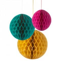 """décorations nid d'abeille """"fiesta"""""""