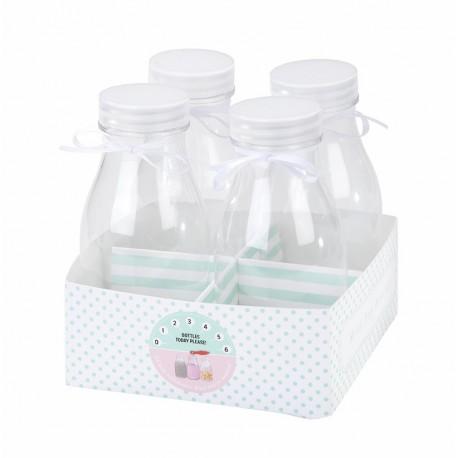 4 mini bouteilles de table
