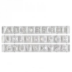 """Réglette avec éjecteur """"Alphabet"""" - Capitales"""