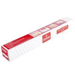 Pâte à sucre blanche étalée prête-à-l'emploi