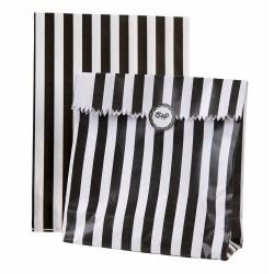 12 sachets à bonbons Black & White