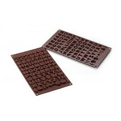 """Moule à chocolats en silicone """"ABCD"""""""