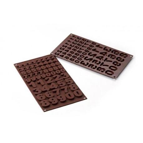 """Moule à chocolats en silicone """"1.2.3.4"""""""