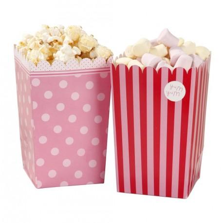 """Pots à popcorn et confiseries """"Pink"""""""