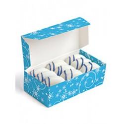 """3 ballotins pour chocolats  """"flocons de neige"""" (13,97 x 6,99 x 3,81cm)"""
