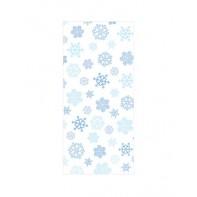 30 sachets pour confiseries flocons de neige (22,8cmx10cm)