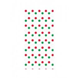 25 sachets pour confiseries - pois rouge et vert