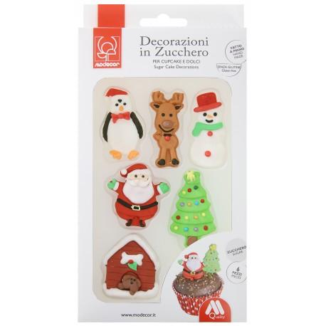 6 décorations de Noël en sucre
