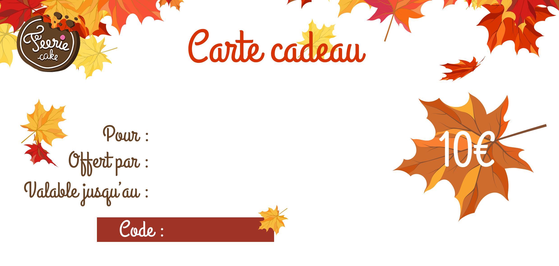 Carte cadeau automne