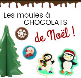 Moules à chocolats de Noël