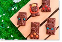 Biscuits animaux en chocolat
