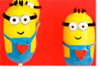 Cake Pops Les Minions pour un goûter thème dessins animés