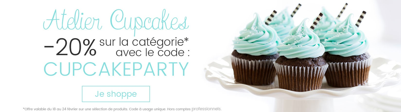 Offre cupcakes