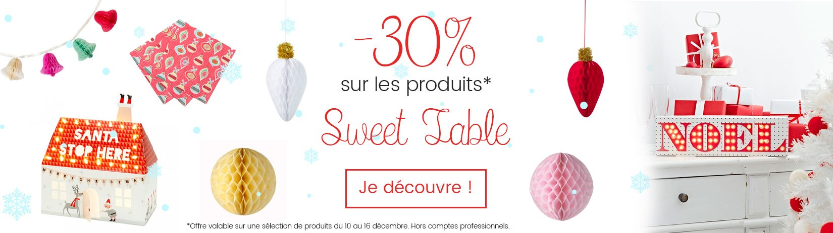 Offre sweet table